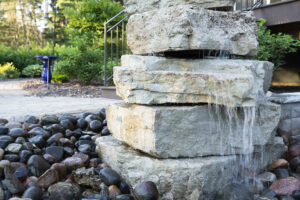 Front Yard Boulder Fountain Water Feature